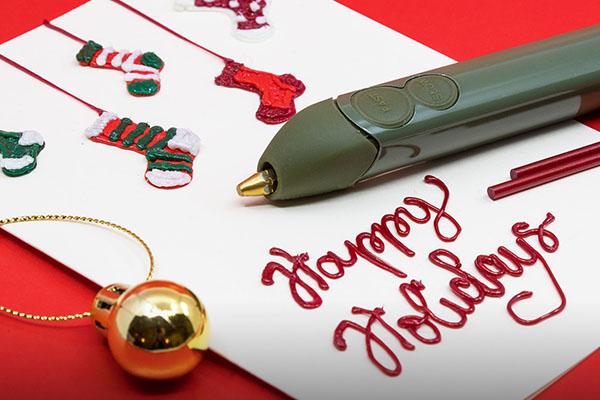 Handmade Christmas Cards & Decor Ideas (made with a 3D pen!)